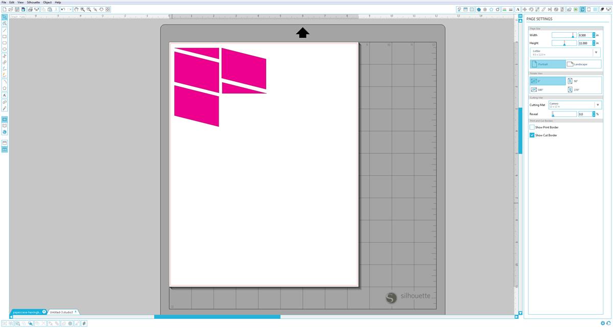 Silhouette Studio (Designer Edition) : Move Shapes
