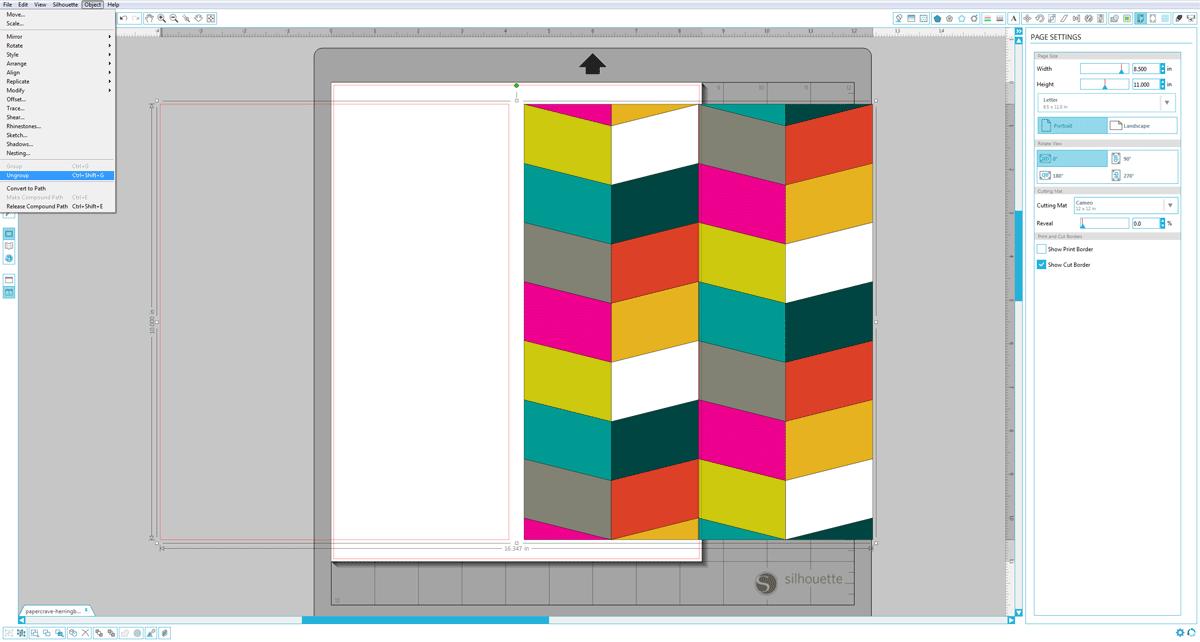 Silhouette Studio (Designer Edition) : Ungroup Shapes