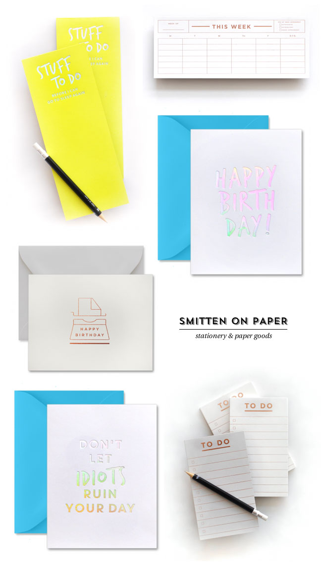 Rose Gold and Holographic Foil Stamped Stationery from Smitten on Paper
