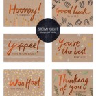 Hand Lettered Copper Foil Cards from Stormy Knight