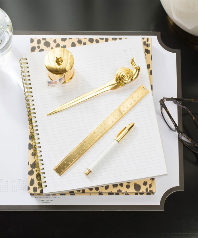 The Sugar Paper Desk Collection (love that snail mail letter opener!)