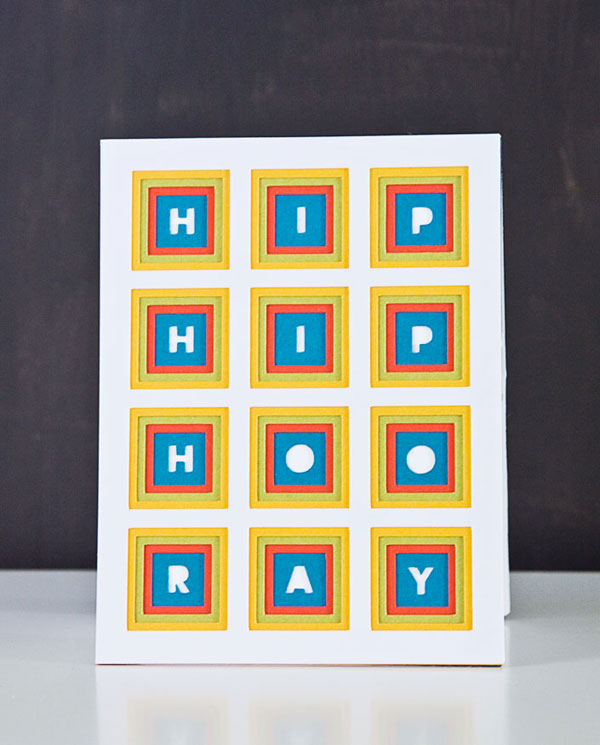 DIY Simple Layered Die Cut Card + Free Templates @Craftsy