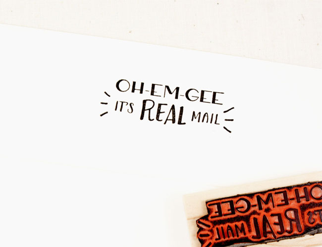 Oh Em Gee Rubber Stamp by Sweet Potato Shop