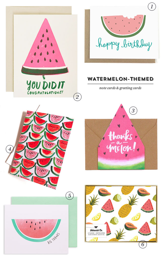 Watermelon-Themed Paper Goods & Stationery