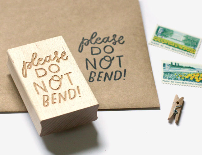 Please Do Not Bend Rubber Stamp by Worthwhile Paper