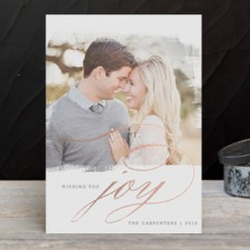 Elegant Joy Foil Holiday Photo Cards by Design Lotus