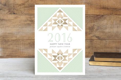 Aztec Business Holiday Cards by Elizabeth Victoria Designs