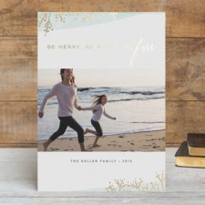 Fresh & Modern Foil Holiday Photo Cards by Misa
