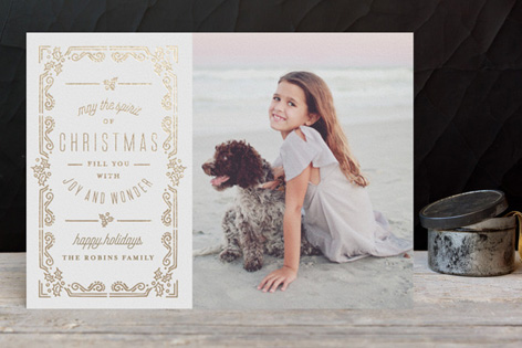 Elegant Christmas Foil Holiday Photo Cards by Chris Griffith