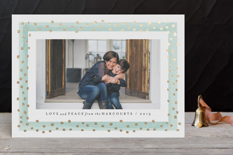 Dotted Frame Foil Holiday Photo Cards by Kristie Kern