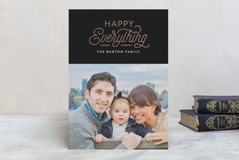 Happy Everything Foil Holiday Photo Cards by Hooray Creative