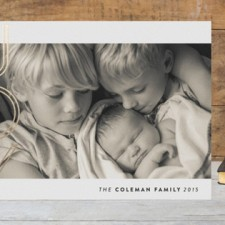 Simple Joy Foil Holiday Photo Cards by Hooray Creative