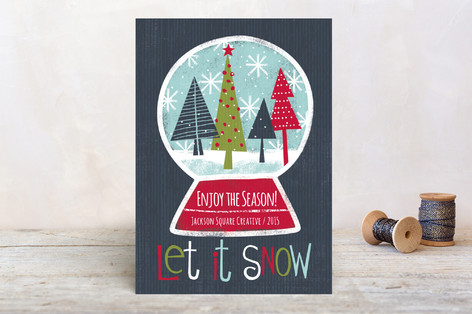 Snow Globe Business Holiday Cards by Michelle Rimpf