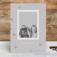 Modern Confetti Foil Holiday Photo Cards by Nocciola Design