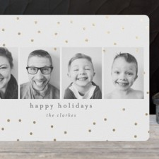 Merry Sparkle Foil-Pressed Holiday Photo Cards by Bethan