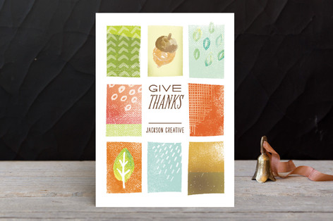 Illustrated Thanks Business Holiday Cards by Susie Allen