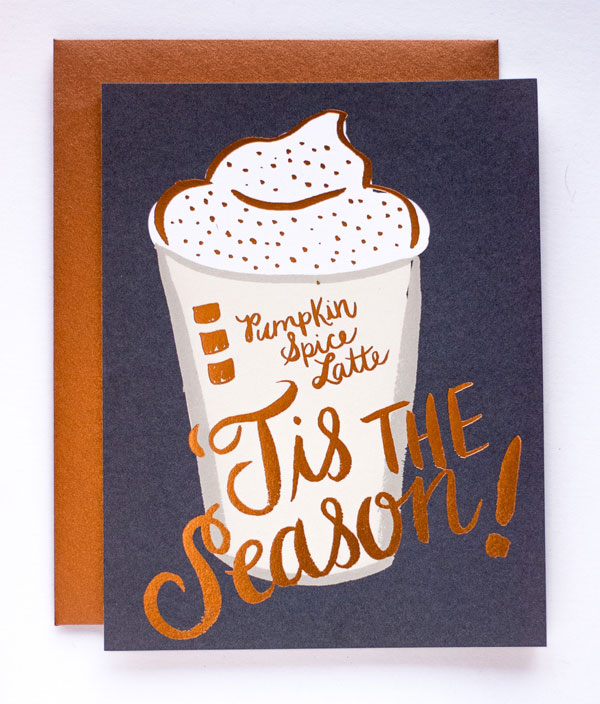 Latte Card by 9th Letter Press