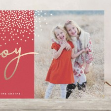 Lettered Joy Foil Holiday Photo Cards by Olivia Raufman