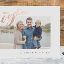 Elegant Joy Foil Holiday Photo Cards by Hooray Creative