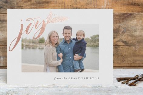 Elegant Joy Foil Holiday Photo Cards by Hooray Creative