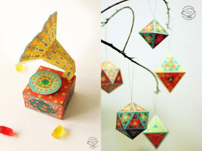 Sky Goodies DIY Paper Gramophone & Ornaments