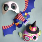 Boo-tiful Printable Halloween Masks from Smallful