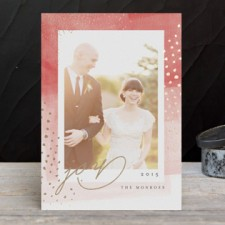Modern Brushstroke Foil Holiday Photo Cards by Kristie Kern