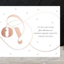 Modern Joy Business Holiday Cards by Carolyn Maclaren