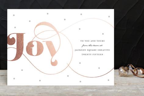 Modern Joy Business Holiday Cards by Carolyn Maclaren
