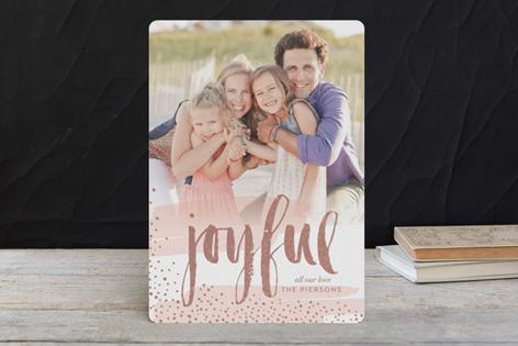 Modern Joy Foil Holiday Photo Cards by Erin Deegan