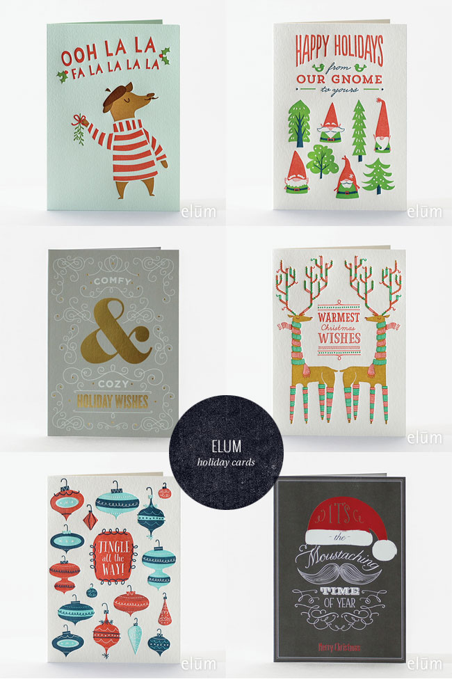 Elum Letterpress Christmas & Holiday Cards