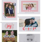 Luxe Letterpress Holiday Photo Cards from Minted