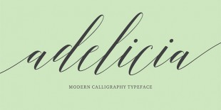 Adelicia Script Font by Seniors