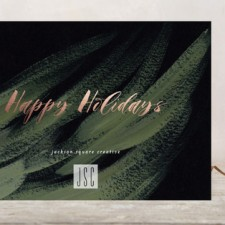 Brushstroke Business Holiday Cards by Simona Cavallaro