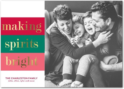 Merry & Bright Foil Stamped Holiday Photo Cards by Magnolia Press