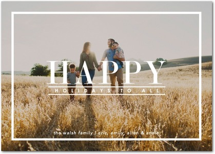 Typography Happy Holiday Photo Cards by Magnolia Press
