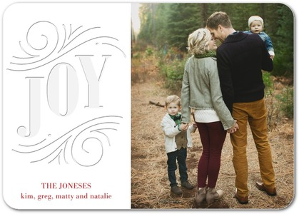 Deco Joy Letterpress Holiday Photo Cards by Magnolia Press