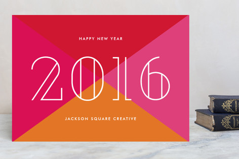 Bold new year business holiday cards by sandra picco reheart Image collections