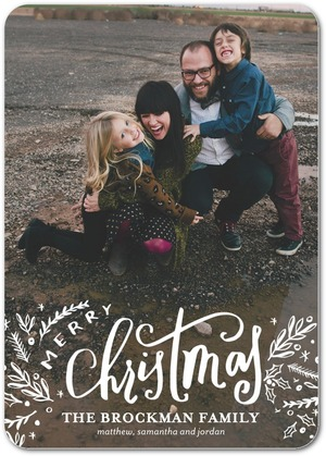 Modern Merry Christmas Photo Cards by Petite Alma