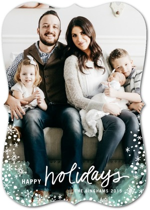 Modern Winter Holiday Photo Cards by Stacey Day