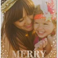Glitter Snow Holiday Photo Cards by Petite Alma