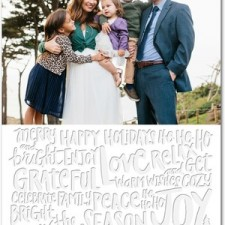 Modern Lettering Letterpress Holiday Photo Cards by Jill Smith