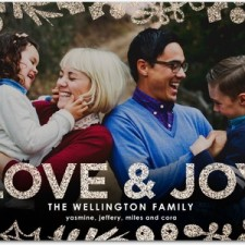 Love & Joy Glitter Holiday Photo Cards by Hello Little One