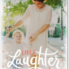 Modern Lattering Holiday Photo Cards by Petite Alma