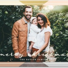 Metallic Mosaic Holiday Photo Cards by Hello Little One