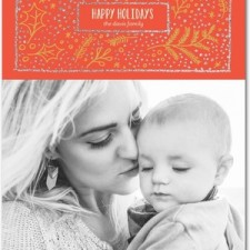 Happy Holly Glitter Holiday Photo Cards by Stacey Day