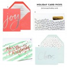 Lovely, Modern Foil Stamped Holiday Cards