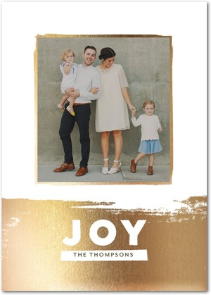 Modern Joy Holiday Photo Cards by Stacey Day