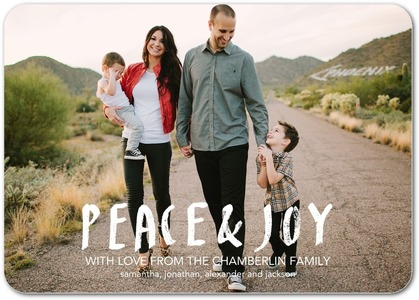 Peace & Joy Holiday Photo Cards by Lotta Jansdotter