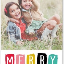 Color Swatch Holiday Photo Cards by Magnolia Press